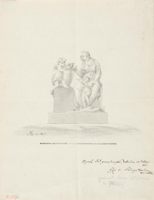 Ondřej (Andreas) Schweigl - Návrh na náhrobek rodiny Widmannovy