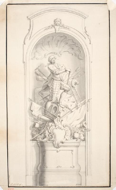 Ondřej (Andreas) Schweigl - Návrh na pomník vojevůdce