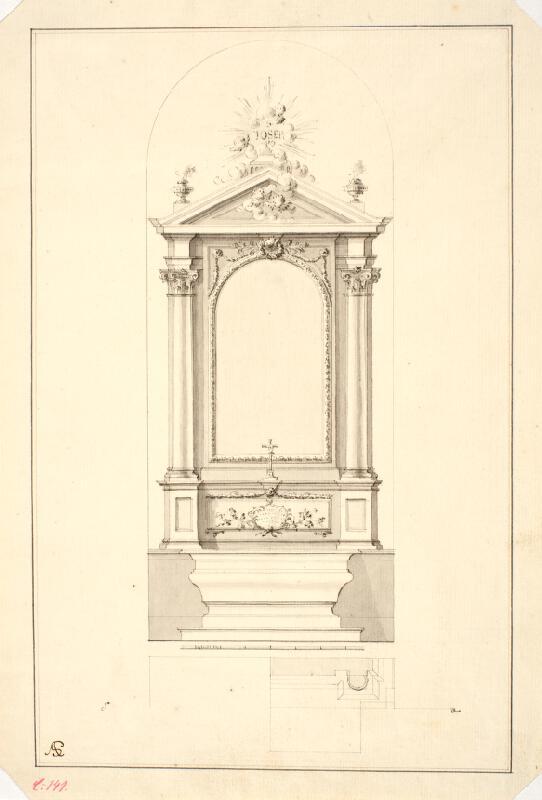Ondřej (Andreas) Schweigl - Návrh na oltář sv. Josefa