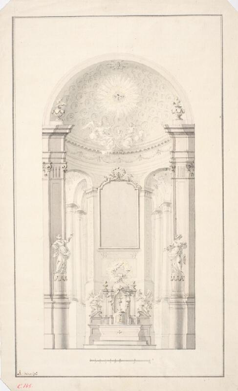 Ondřej (Andreas) Schweigl - Návrh na oltář v Zábrdovicích