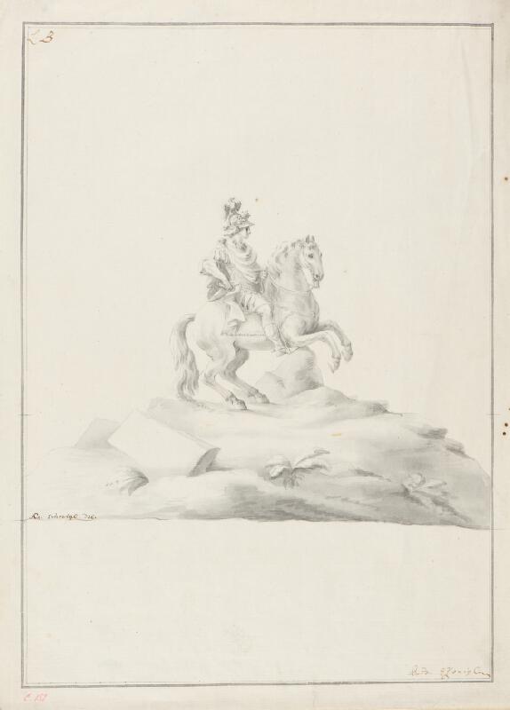 Ondřej (Andreas) Schweigl - Návrh na jezdecký pomník