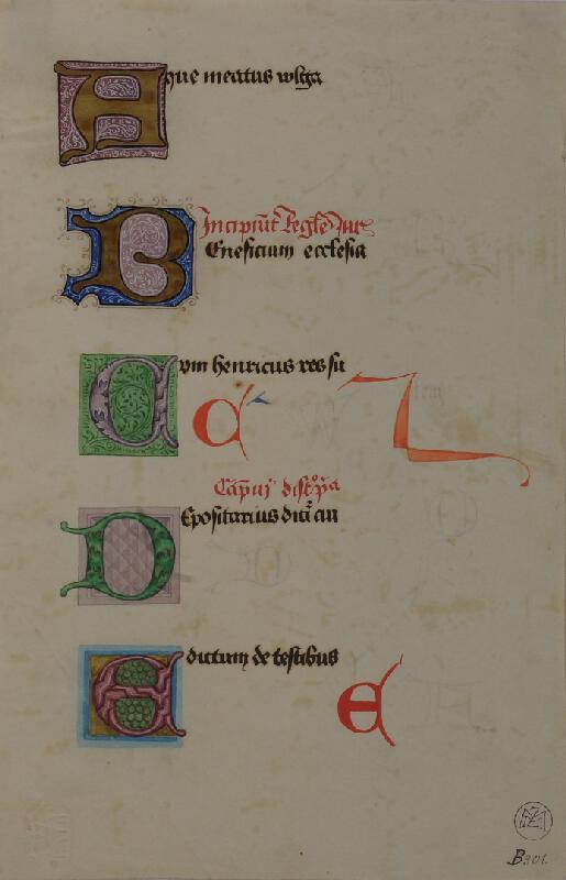 Mořic (Mauritz) Vilém Trapp - Ukázky písma z 15.stol.
