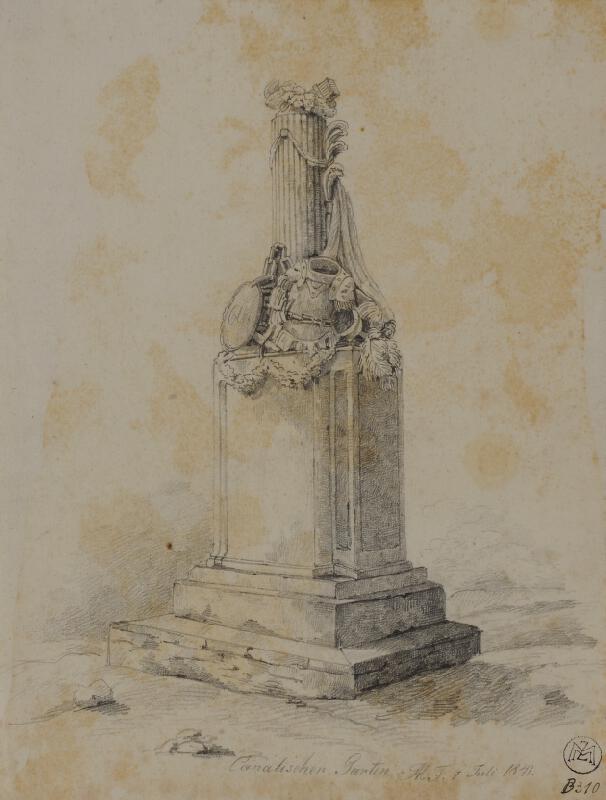 Mořic (Mauritz) Vilém Trapp - Pomník v Kanálce u Prahy