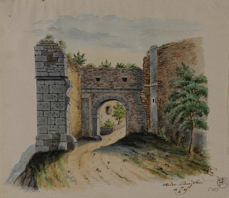 Mořic (Mauritz) Vilém Trapp - Hradní brána na Okoři