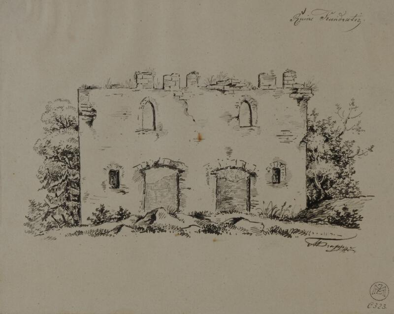 Mořic (Mauritz) Vilém Trapp - Zřícenina hradu Kundratic