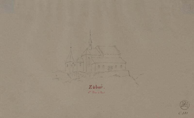 Mořic (Mauritz) Vilém Trapp - Kostel sv. Petra a Pavla v Záboří