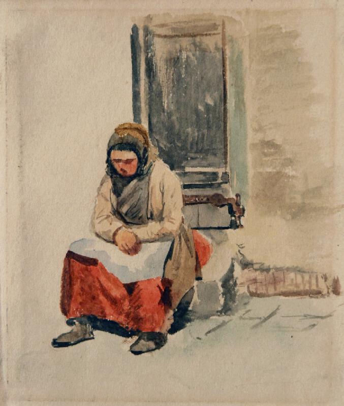 František Bohumír Zvěřina - Sedící žena