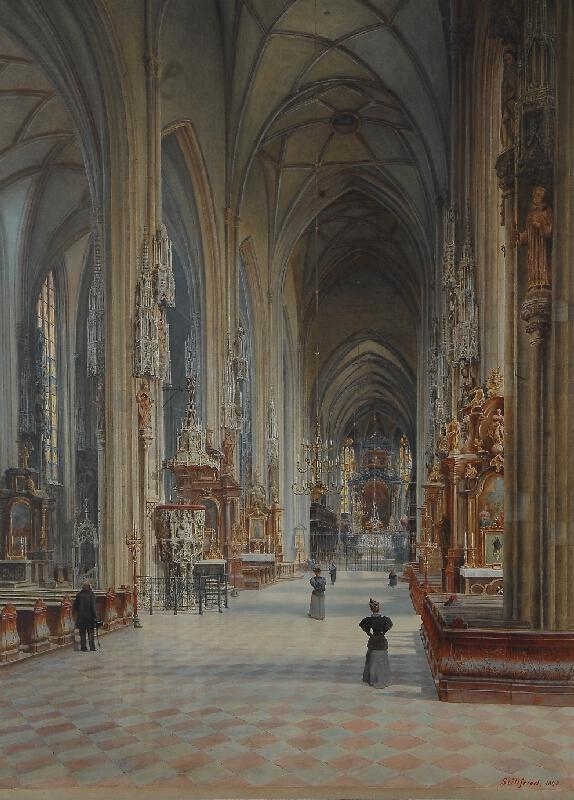 Raimund Stillfried von Rathenicz - Interiér dómu sv. Štěpána ve Vídni