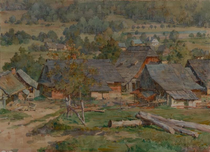 Bohumír Jaroněk - Valašská vesnice