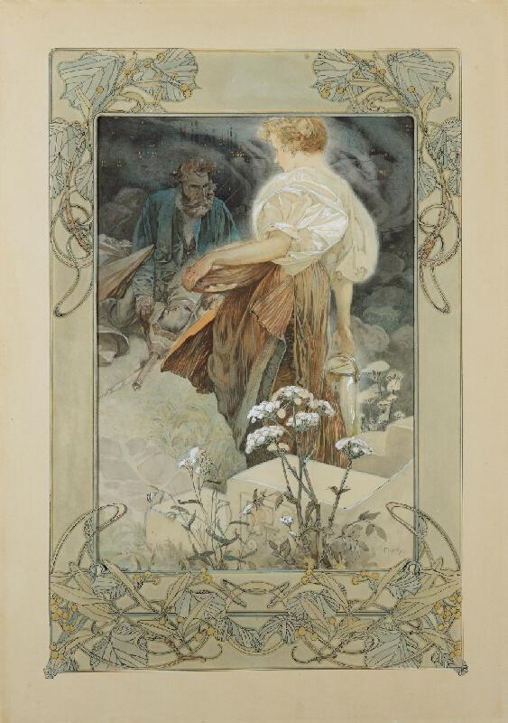 Alfons Mucha - Blahoslavení milosrdní