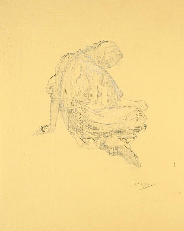 Alfons Mucha - Studie k blahoslaveným chudým duchem