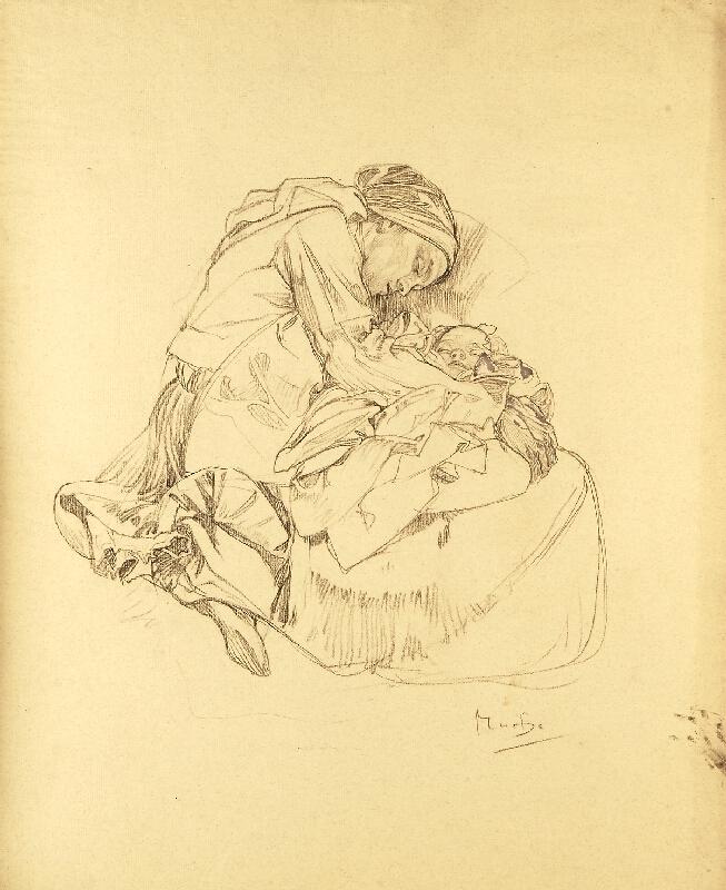 Alfons Mucha - Studie k Blahoslaveným lkajícím