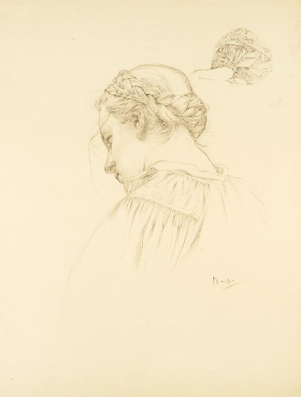 Alfons Mucha - Studie k Blahoslaveným milosrdným