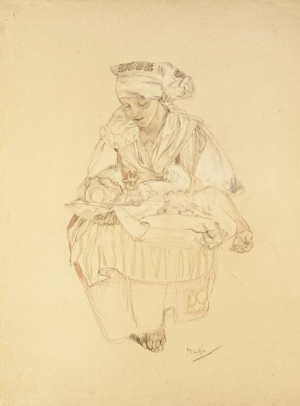 Alfons Mucha - Studie k Blahoslaveným pokojným