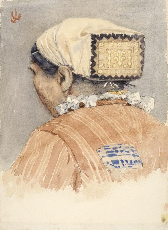 Joža Uprka - Žena v čepci od Kunovic