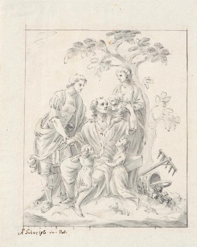 Ondřej (Andreas) Schweigl - Návrh na reliéf v zámecké zahradě na Pernštejně