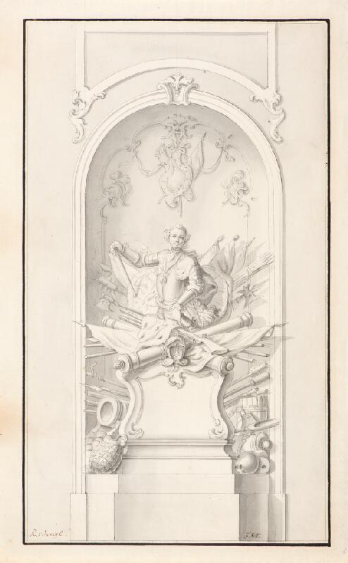 Ondřej (Andreas) Schweigl - Válečné emblémy, návrh na pomník vojevůdce