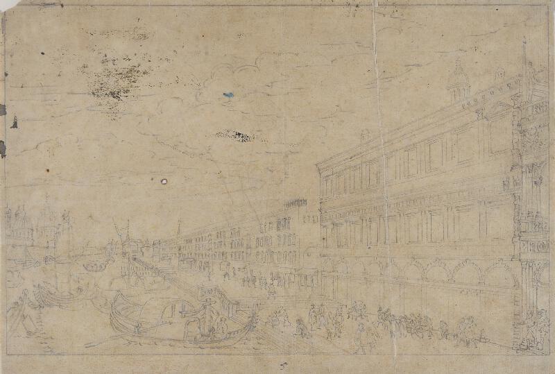 Giovanni Antonio Canal zv.Canaletto - následovník - La Zecca sopra la Pescaria