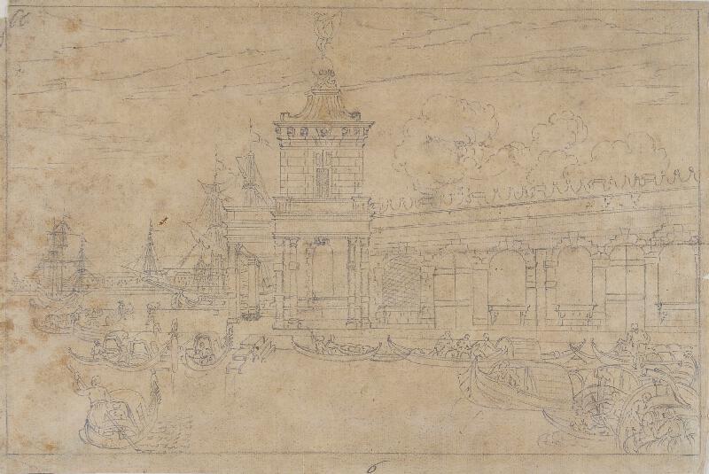 Giovanni Antonio Canal zv.Canaletto - následovník - Veduta della Dogana