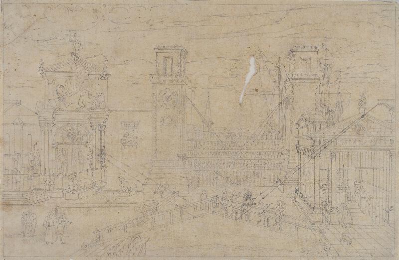 Giovanni Antonio Canal zv.Canaletto - následovník - Veduta dell Arsenale