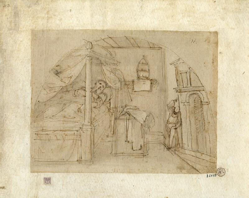 Guglielmo Caccia zv. il Moncalvo - Sv. František podpírá Lateránskou baziliku