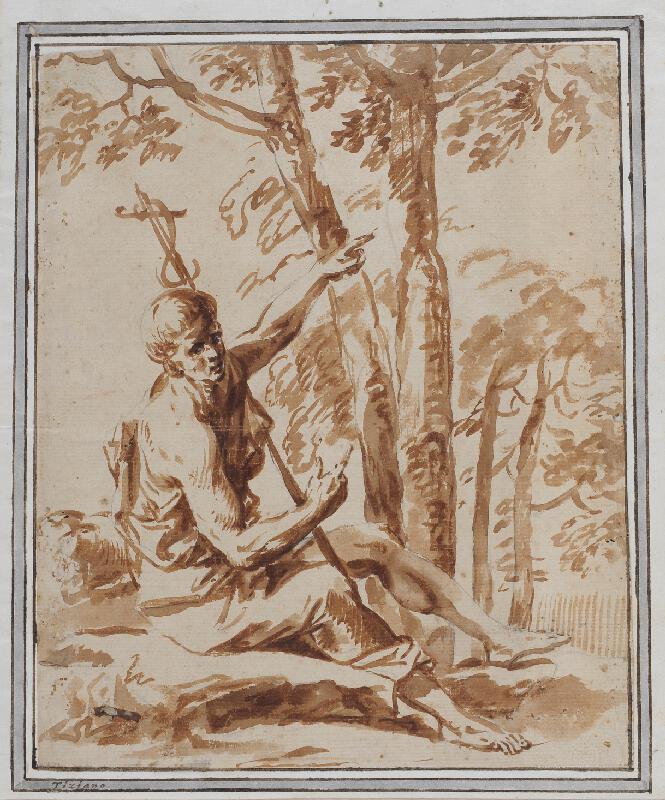 neznámý malíř italský boloňský (?) - Sv.Jan Křtitel