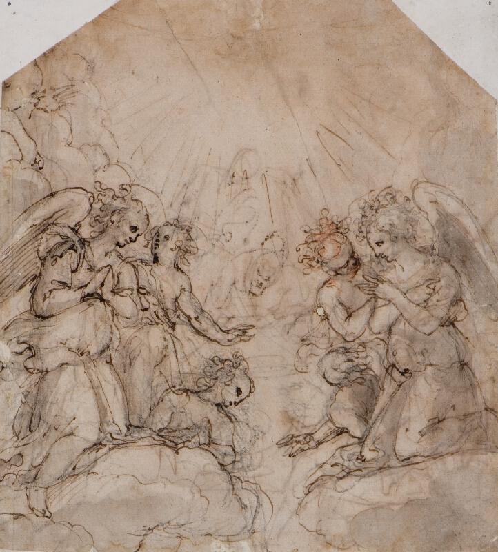 Bernardino Barbatelli Poccetti (?) - Andělé na nebesích
