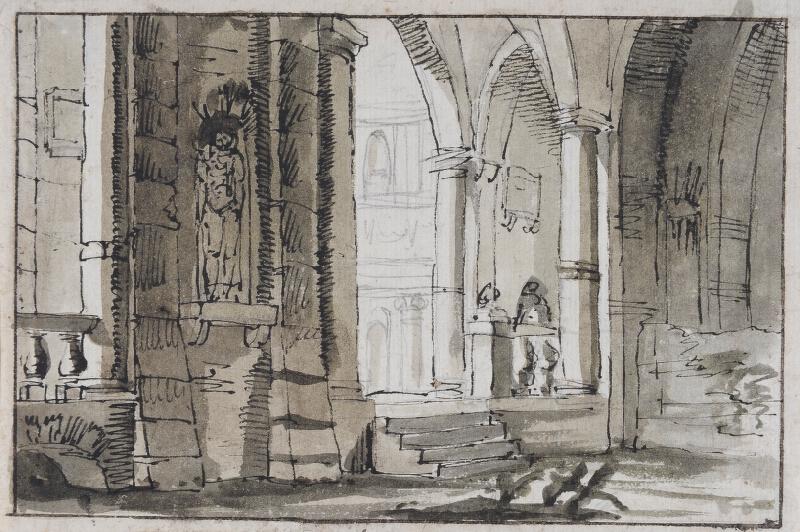 Pelagio Palagi - připsáno - Interiér chrámu