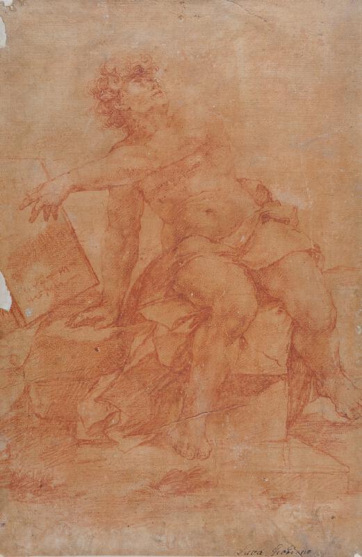 Luca Giordano - Sedící mužská figura