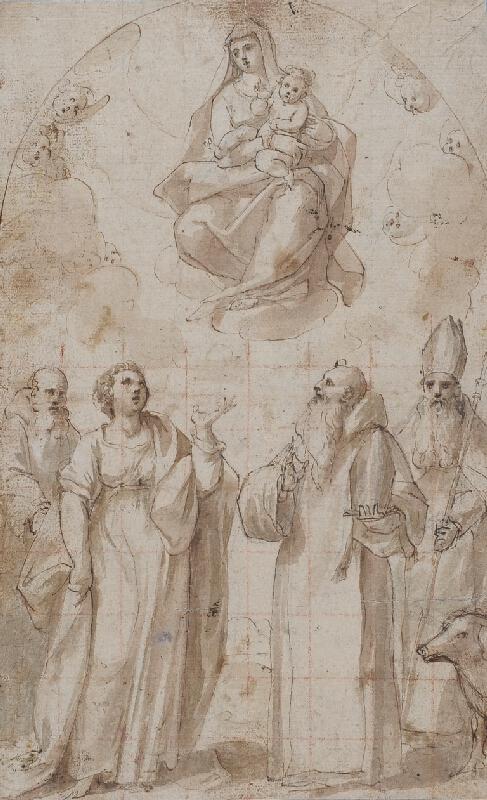 Giovanni Baglione - okruh - Madona se svatými