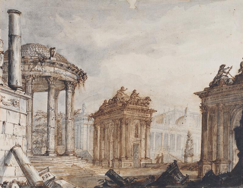 Giovanni Battista Piranesi - následovník - Ruiny antického fora