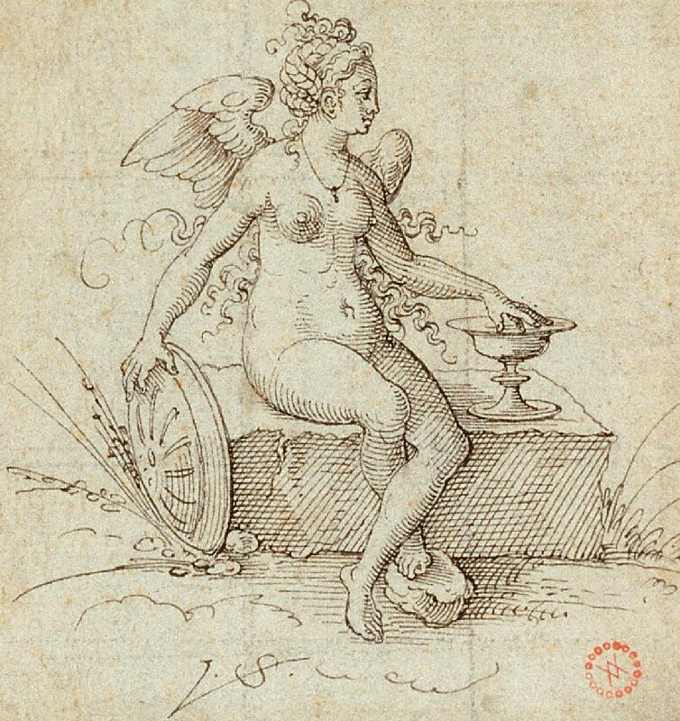 Virgil (Virgilius) Solis (S.V.) - Salus; Nahá žena s křídly