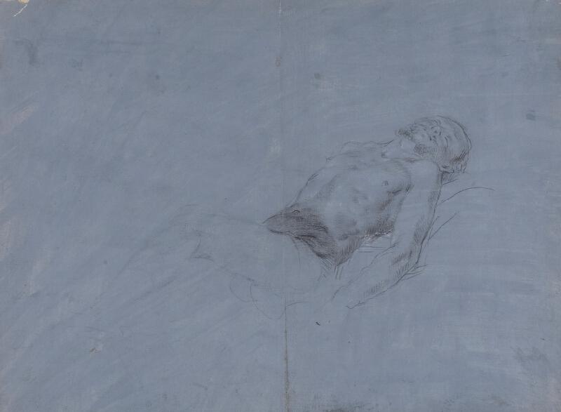 neznámý malíř lombardský - Ležící tělo Krista