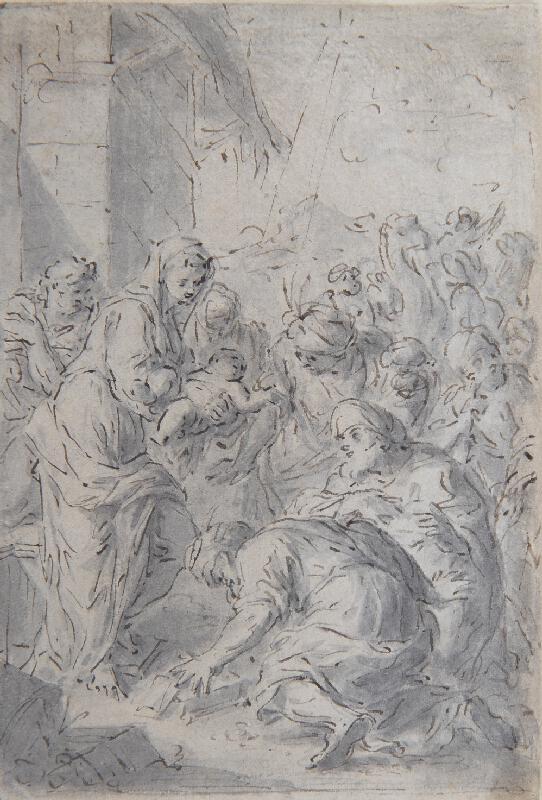 neznámý malíř středoevropský - Klanění tří králů