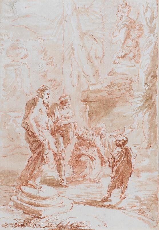 G. Benedetto Castiglione zv. il Grechetto - podle - V arkadické krajině