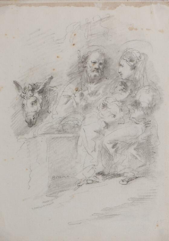 Giuseppe Bernardino Bison - Svatá rodina na útěku