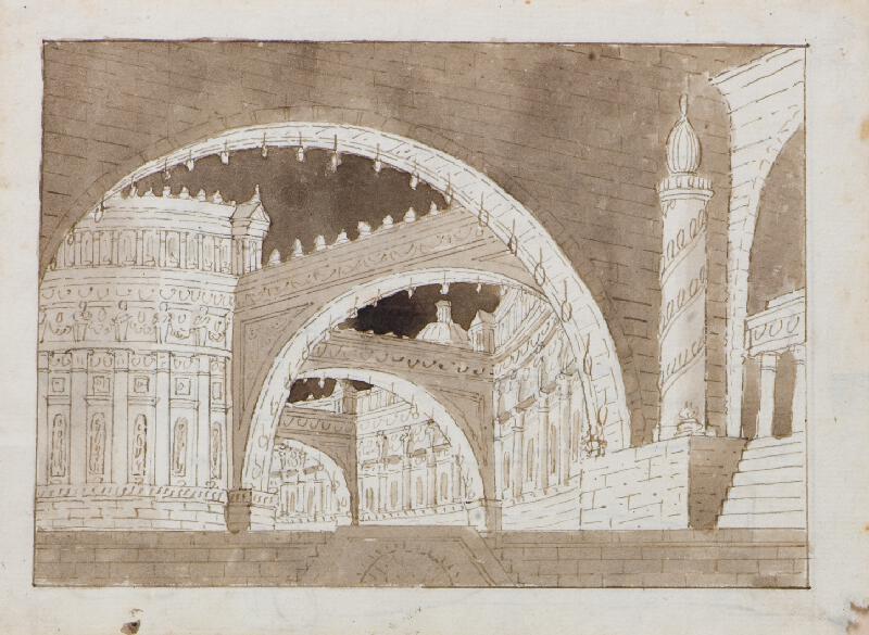 Francesco Fontanesi (?) - Scénická architektura