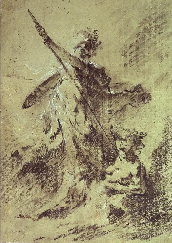 Franz Anton Maulbertsch - Vítězství Moudrosti nad Závistí