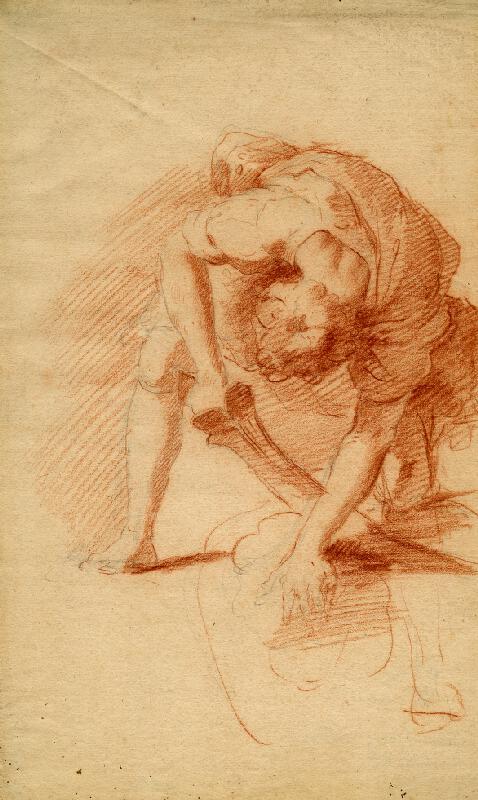 Anton (?) Kern - Muž s mečem v pokleku