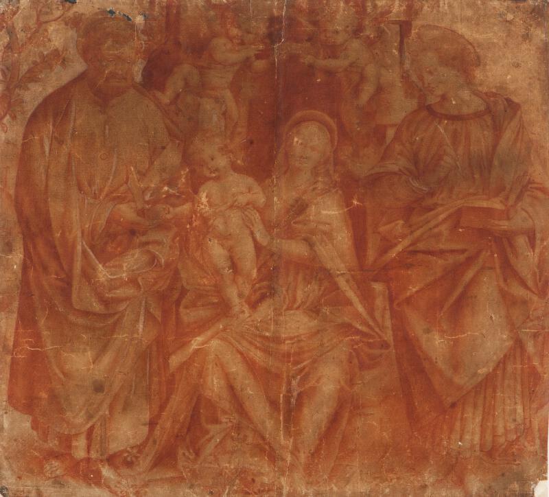 Gaudenzio Ferrari - podle - Madona mezi sv. Janem a sv. Bartolomějem