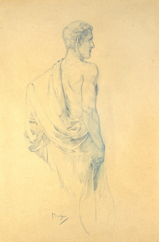 Alfons Mucha - Muž v tóze