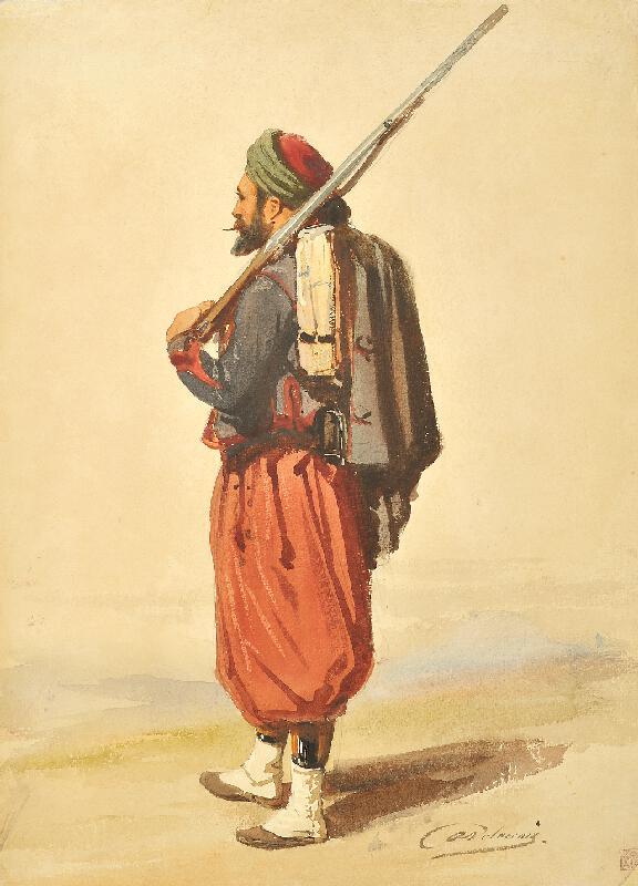 Auguste Delacroix - Zuáv
