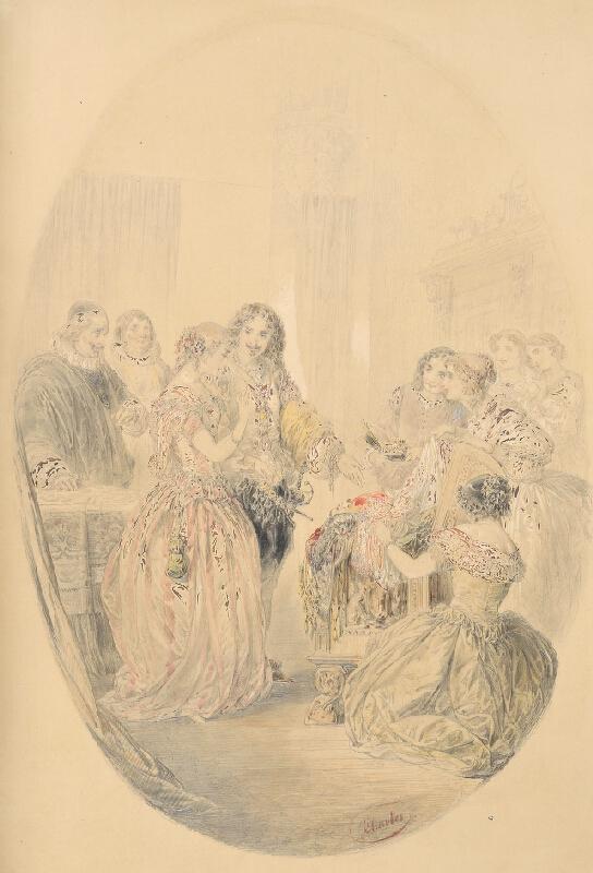 Nicolas-Toussaint Charlet - Svatebčané (Ludvík XIII. a Anna Rakouská)