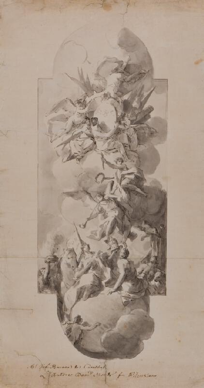 Domenico Mondo - Skica pro nástropní fresku/ obraz