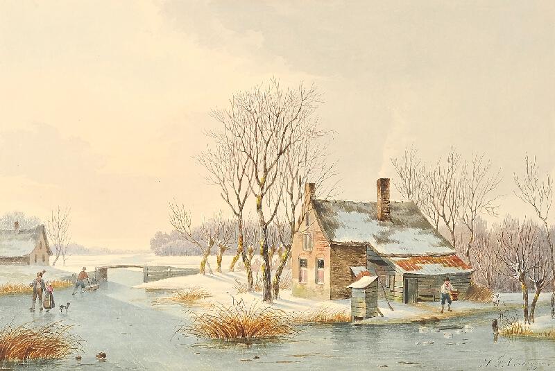 Hendrik Frederik Verheggen - Zamrzlá řeka