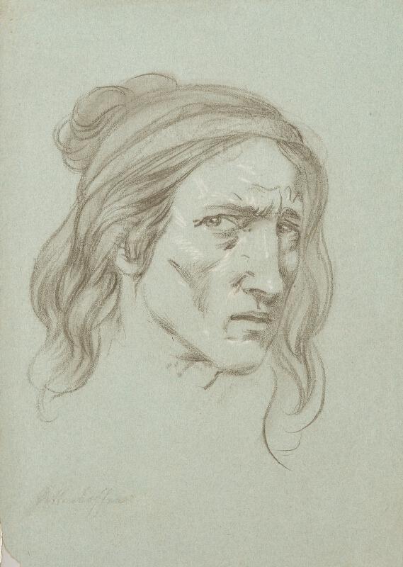 August Karl Xaver von Pettenkofen - Hlava cikánky