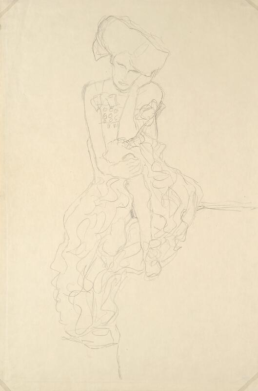 Gustav Klimt - Sedící žena