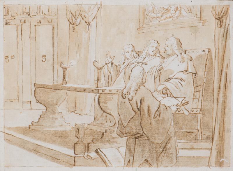 Pietro Falca zv. Longhi - Rada tří v Benátkách