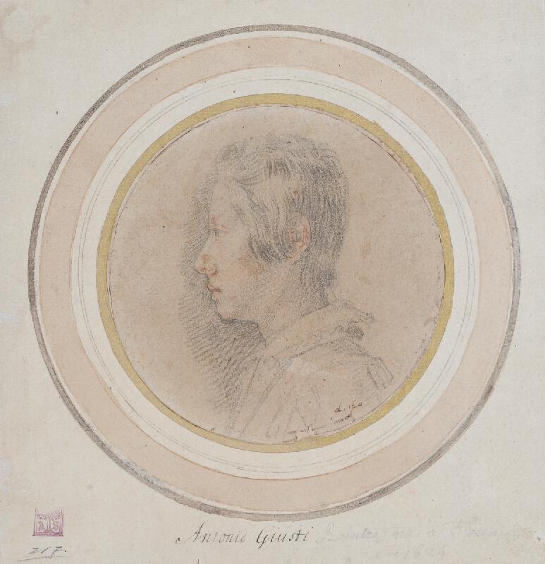 Giovanni Battista Vanni (?) - Podobizna knížete Ferdinanda II. de´Medici jako chlapce z profilu