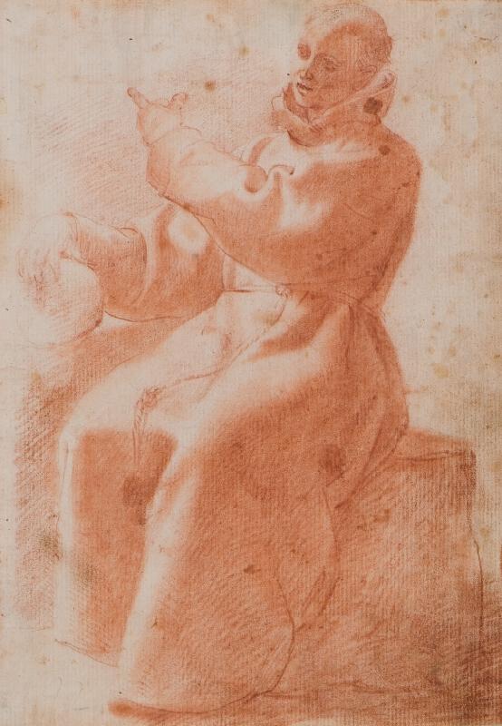 neznámý malíř florentský - Studie sedícího mnicha
